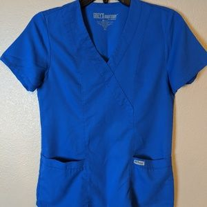 Grey Anatomy blue scrub top